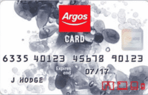 Argos catalogue card