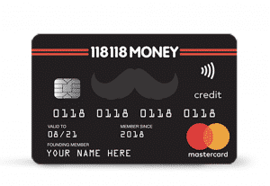 credit card from 118118money